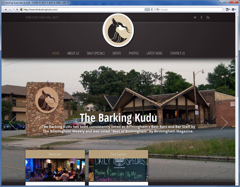 Contrive Website Design - Barking Kudu