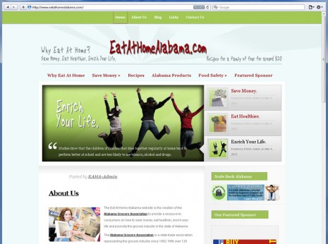 Contrive Website Design - Eat at Home Alabama