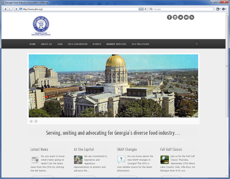 Contrive Website Design - GFIA