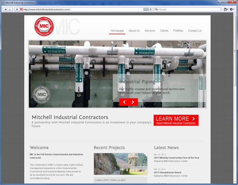 Contrive Website Design - MIC