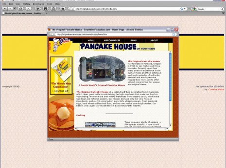 Website Design for Original Pancake House - CONTRIVE