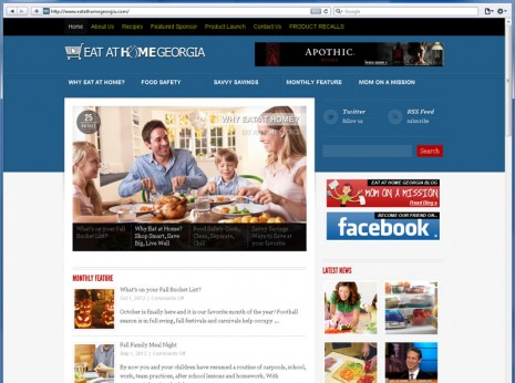 Website Design Eat at Home Georgia