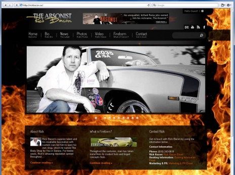 Website Design for Rick Bacon