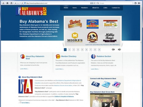 Website Design for Buy Alabama