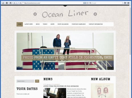 Web Design for Ocean Liner by Contrive Media